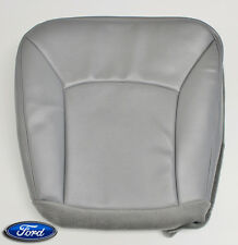 04-08 Ford Van E350 E450 Shuttle Bus Diesel -Driver Bottom Vinyl Seat Cover GRAY