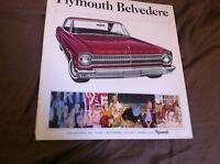 1965 PLYMOUTH BELVEDERE AND SATELLITE 426 HEMI COLOR BROCHURE CATALOG PROSPEKT