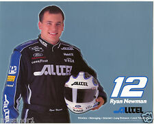 Ryan Newman 2002 Mobil Alltel racing promotional picture signature card Ford