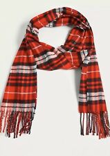 Urban Outfitters Scarf Red Tartan Check Soft Winter Designer Fashionable BNWT UK