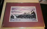 """Delight Prescott """"The Siren"""" Print Matted Framed Limited Edition 120/300 SIGNED"""
