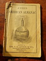 AYER'S AMERICAN ALMANAC 1892 Lowell, Mass. 1891 Copyright Advertising Booklet