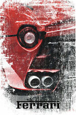 "Ferrari Abstract Grunge Poster Picture Car Dealer Art Print Poster 24"" x 36"""