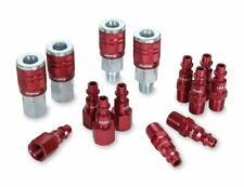 ColorConnex Coupler Plug Kit (14 Piece), Industrial Type D, 1/4 in. Npt, Red -
