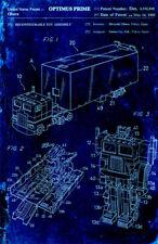 Optimus Prime Toy Figure Transformer Autobot Blueprint 11 x 17 Quality Poster