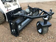 "Jenkins Iron 84"" Hyd Angle Soil Conditioner Power Rake Skid Steer Attachment"