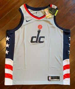 Nike Swingman Wizards Gray City Edition Jersey, New! XL (52)