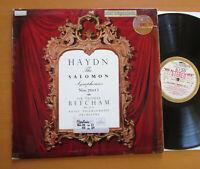 ASD 340 ED1 Haydn Salomon Symhonies 7-12 Beecham HMV 1st White Gold Stereo VG
