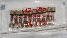 RS Components 20mm 1.6A Fusibile Anti Sovratensione (pacco da 10)