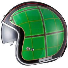 Casques verts graphiques brillants moto pour véhicule