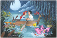 Disney Fine Art Limited Edition Canvas Something About Her-Little Mermaid