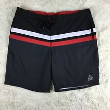 Gerry Men's Size XL Black Red Gray Brief Lined Swim Trunks Board Shorts.  A
