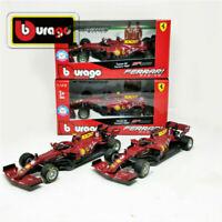 BBURAGO 1:43 2020 Ferrari F1 SF1000 SeBastian Vettel & Charles Leclerc Model Set