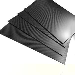 Kohlefaser-Plattenblatt 100% echter fester Twill-Stärke 0.2-5.0 mm 100×100mm