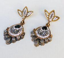 Turkish Onyx Chandelier Earrings Handmade Jewelry 925 Sterling Silver