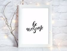 be awesome glossy Print poster a4  picture watercolour unframed 43