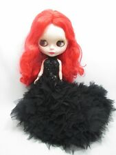 Blythe Outfit Clothing Cloth Fashion handcrafted beads tutu gown dress 956-82