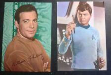 Star Trek set of 2 postcards KLASIK KARDS London UK
