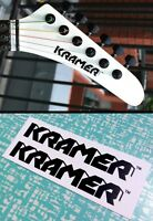Kramer Strat Headstock Decals Waterslide Decal Vintage Guitar Stratocaster 80's