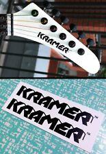 Kramer Strat Headstock Decals Waterslide Decal Vintage Guitar Stratocaster 80's