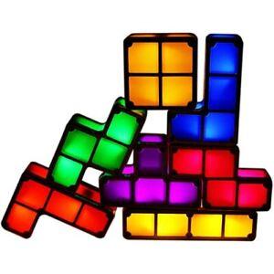 Tetris Lamp Stackable Night Light,Puzzle Lamp 7 Colors led Blocks DIY Kids Gifts