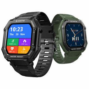 Rugged Smart Sports Watch 3ATM Waterproof Blood Heart Rate Fitness Tracker FIT