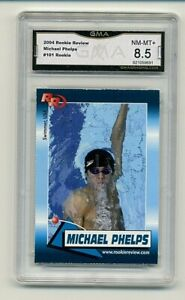 2004 Rookie Review Michael Phelps USA Olympic Graded GMA 8.5 -   #1