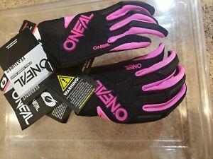 O'Neal Women's Element Gloves 7 Black/Pink