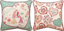 """Valentine's Day Love Birds 18"""" Square Reversible Pillow"""