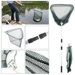 Telescopic Lightweight Folding Fishing Landing Net Extending Pole Micro Mesh Uk