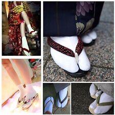1 Par Unisex Japonés Kimono Sandalias  Calcetines Separador Dedos Tabi Calcetín