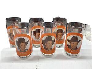 6 Vintage Blair Pro Rodeo Enterprises 1970's Collectible Drinking Glasses Cowboy