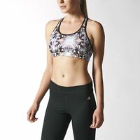 adidas Women's Sports Bra Top Ventilated Climalite Vest Gym Yoga Running Fitness