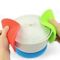 Heat Resistan Kitchen Pot Pan Pad Cooking Trivet Holder Silicone Honeycomb Mat