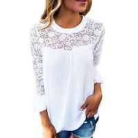 746 Femmes T-Shirt-Casual-Blouse-Chemise-chemisier débardeur-Vetement-Haut-top
