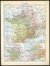 Antique Print-GALLIA-GAUL-FRANCE-HISTORIC-Larousse-1897