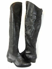 Steve Madden Women's Koma Black Leather Over The Knee High Boots Size 7