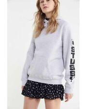 Stussy Women's Sierra Hoodie Sweatshirt in Gray Sz Medium