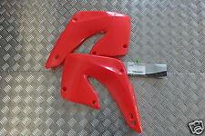 COPPIA FIANCHETTI FIANCATINE RADIATORE ACERBIS HONDA CR 125/250 2000 ROSSO