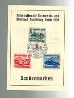 1939 Berlin Germany Postcard Cover Nuremburg Car Rally # B134 B136 Dresden Bank
