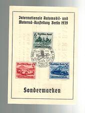 1939 Berlin Germany Postcard Cover Nuremburg Car Rally # B134 B136 Dresden Bank