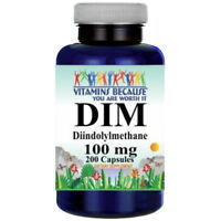 DIM (Diindolylmethane) 100mg 200 Capsules By Vitamins Because - Antioxidant
