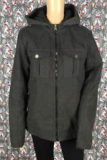 CJ BLACK Men's Polyester/Wool Blend Zip-Up Grey Color Hoodie Jacket Coat Size Sm