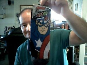 MARVEL CAPTAIN AMERICA MEN'S ANKLE SOCKS SIZE 6-11 BIRTHDAY FATHERS DAY