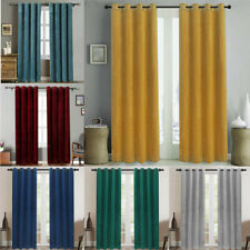 2 Panels Velvet Blackout Window Curtains Thermal Insulated Drapes for Bedroom