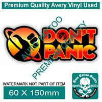 DON'T PANIC DECAL STICKER HITCHHIKERS GUIDE FUNNY NOVELTY MOVIE DECALS STICKERS