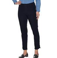 Isaac Mizrahi Live 24/7 Denim Pull-On Ankle Jeans Dark Indigo Size Petite 4