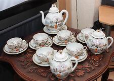 ANTIQUE 1910s RARE JAPANESE 100% HAND PAINTED GEISHA GIRLS TEA set 25PC SKU15098
