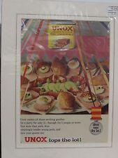 Original 1961 Vintage Mounted Advert ready to framed Unox Pork Luncheon Meat