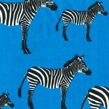 Timeless Treasures Animals C2619 Turquoise Zebra   Cotton Fab